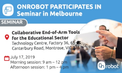 Neils Ole Sinkbaek Sorensen, APAC Area manager will be hosting an OnRobot seminar in Melbourne for the educational sector. Come join us in Melbourne for this event co-sponsored by mobile automation.