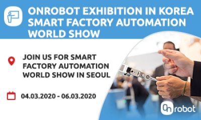 Come and meet us at Smart Factory Automation World in Seoul Korea on 4-6 March 2020 at COEX convention centre grand ballroom
