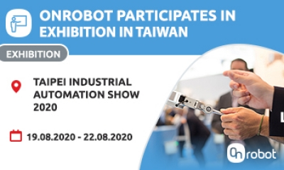 Come join us at the OnRobot booth in Taipei Industrial Automation Show