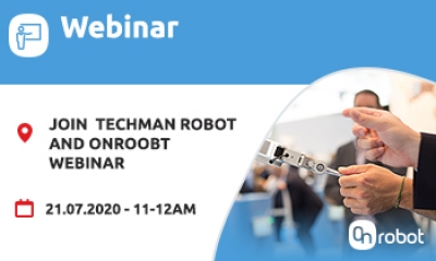 Join OnRobot and Techman Robot Webinar on 21 July 11-12pm and get started on the automation process.