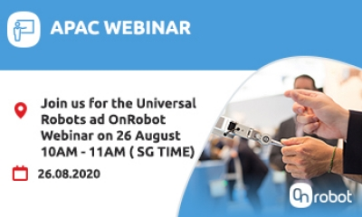 Join Universal Robots and OnRobot Webinar on 26 August 10-11am (SG Time)