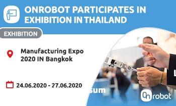 Come join us at the OnRobot booth in Manufacturing Expo